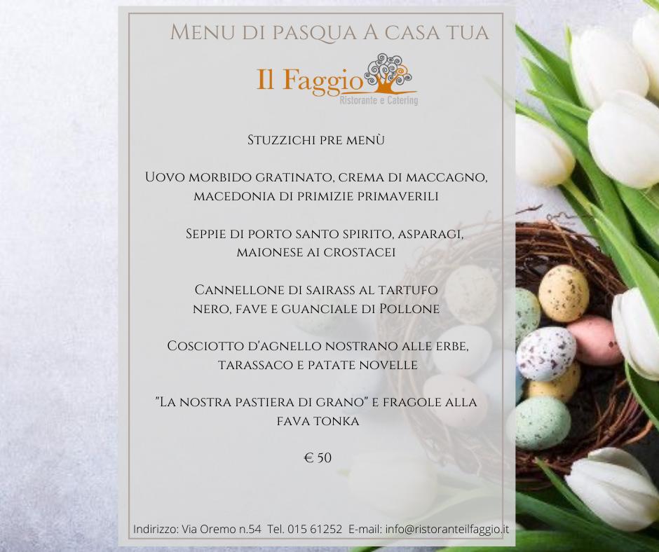 Menù di Pasqua 2021 take away