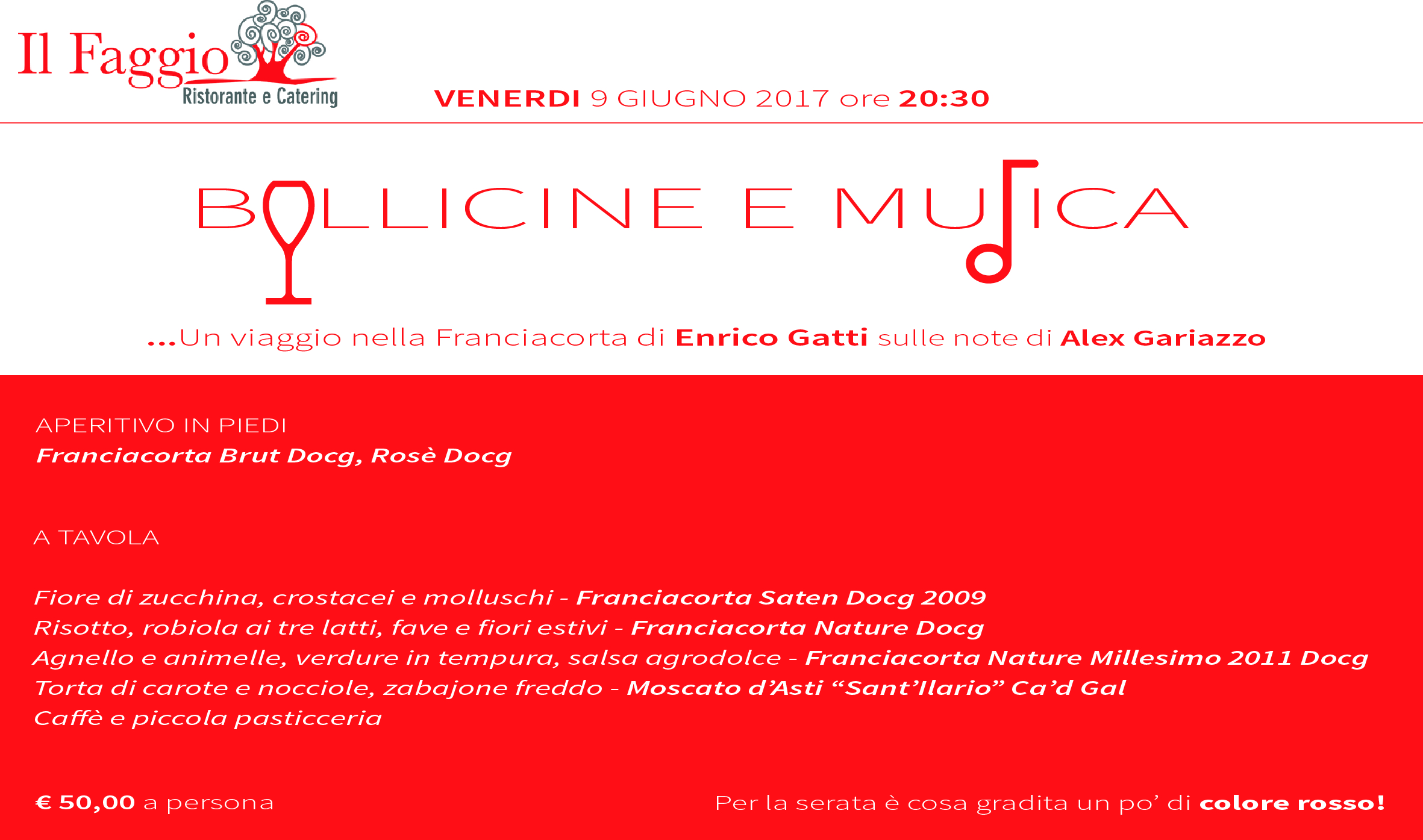 BOLLICINE E MUSICA....VENERDI' 9 GIUGNO, ORE 20.30